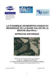 APPROCHE HISTORIQUE - ENGEES - Université de Strasbourg