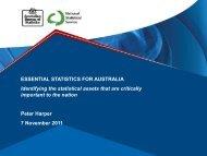 ESSENTIAL STATISTICS FOR AUSTRALIA Identifying the statistical ...