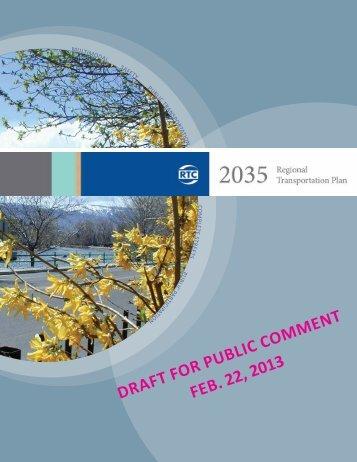 DRAFT FoR public commenT Feb. 22, 2013 - RTC Regional ...