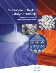 Saint-Gobain NorPro Catalytic Products, Proprietary Catalyst Carriers