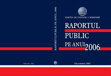 2006 Raport public - Curtea de Conturi