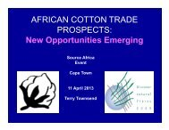 New Opportunities Emerging, by Dr. Terry Townsend - Cotton Africa