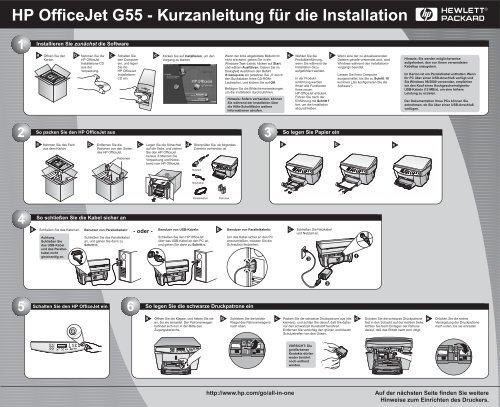 HP OfficeJet G55 - Kurzanleitung für die Installation - Hewlett Packard