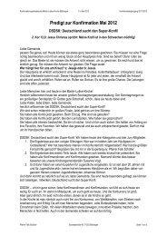 Predigt zur Konfirmation Mai 2012 - Martin Luther Gemeinde ...