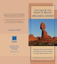 WELLNESS CENTER - Huntsman Cancer Institute