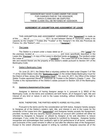 Assignment Agreement This Agreement Is Made On [Date