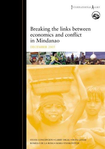 Breaking the links between economics and ... - International Alert