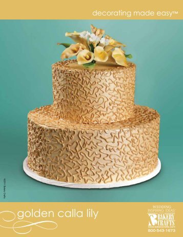 golden calla lily - Bakery Crafts