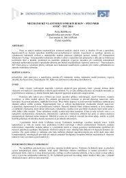 mechanické vlastnosti struktur kov - polymer - Západočeská ...
