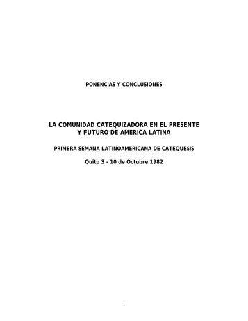 ponencias y conclusiones - Iglesia Católica Conferencia Episcopal ...