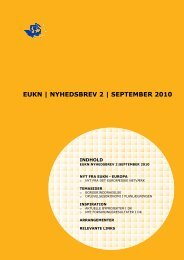 EUKN | NYHEDSBREV 2 | SEPTEMBER 2010 - EUKN.dk