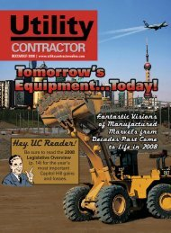 View Full December PDF Issue - Utility Contractor