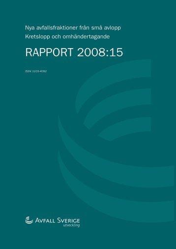 RAPPORT 2008:15 - Avfall Sverige