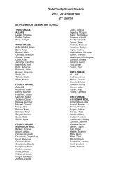 2012 Honor Roll - York County Schools
