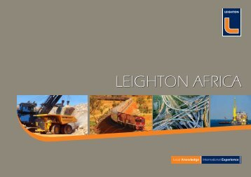 Leighton Africa Corporate Profile, 2012