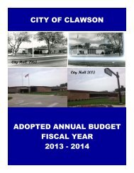 2013-2014 Budget - City of Clawson