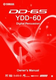 DD-65/YDD-60 Owner's Manual - zzounds.com