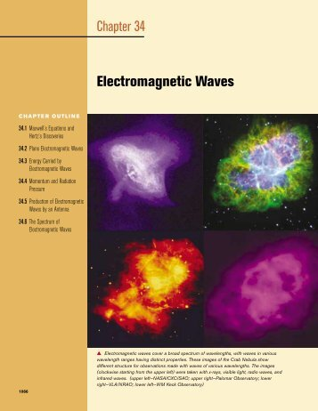 Chapter 34 Electromagnetic Waves - electron.rmutphysics.com