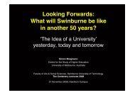 Swinburne Lecture 21 November 2008 - Centre for the Study of ...