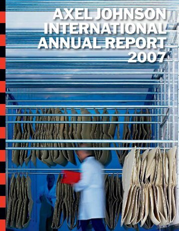 AXEL JOHNSON INTERNATIONAL ANNUAL REPORT