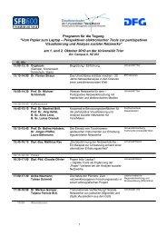 Programm für die Tagung