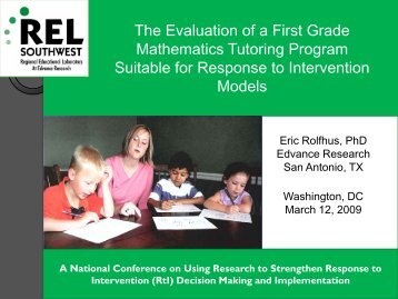 Randomized Evaluation of Tier 2 Mathematics ... - SERVE