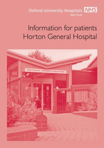 Information for patients Horton General Hospital - Oxford University ...