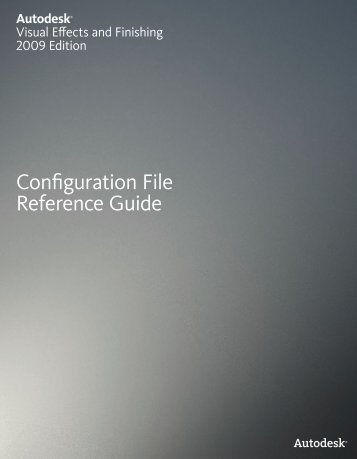 Configuration File Reference Guide - Autodesk