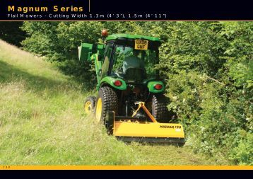 Magnum Mower pages from McConnel Product Guide