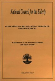 Older People in Ireland: Social Problem or Human Resource?
