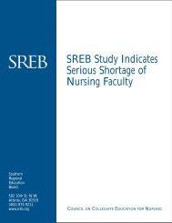 SREB Study Indicates Serious Shortage of Nursing Faculty