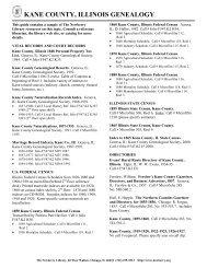 KANE COUNTY, ILLINOIS GENEALOGY - Newberry Library