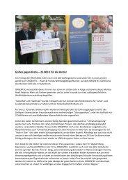 Golfen gegen Krebs - Pressemitteilung - Mainzer Golfclub