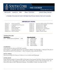 October 2012 - Cobb County School District