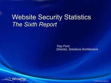 Website Security Statistics - WhiteHat Security