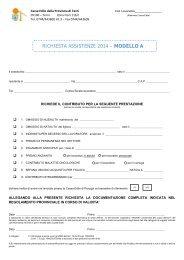 richiesta assistenze 2013 – modello a - Iscrizione - Cassa Edile di ...