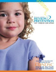 Child Death, Near Death and Stillbirth Commission Annual Report ...
