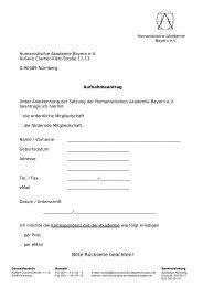 Humanistische Akademie Bayern e - HVD-Bayern