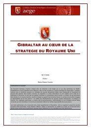 Gibraltar au coeur de la stratégie du Royaume-Uni - Base de ...