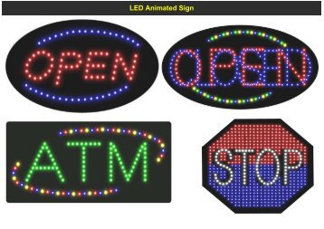 LED Animated Sign (MELODY-LIGHTING) - Melody-lighting.com