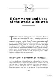 E-Commerce and Uses of the World Wide Web