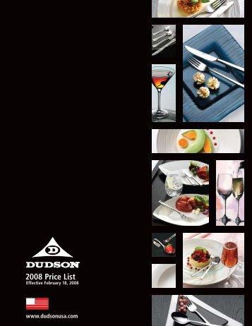 2008 Price List - Dudson USA