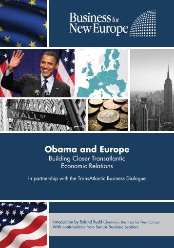 Obama and Europe: Building Closer Transatlantic Economic Relations