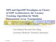 MPI and OpenMP Paradigms on Cluster of SMP Architectures: the ...