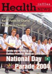 Medical Coverage for National Day Parade 2004 - Raffles Medical ...