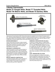 [PSS 3-3D1 A] T-Series Thermowells - Model TF ... - Simark Controls