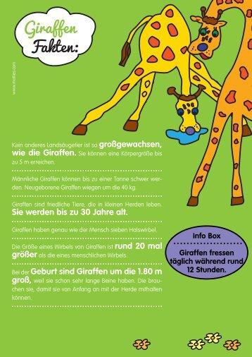 Giraffen Fakten: - Motlies