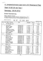 4'. Jungseniorinnen-Liga nord LGV Rheinland ... - Mainzer Golfclub