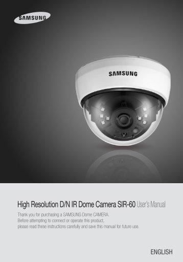 High Resolution D/N IR Dome Camera SIR ... - Samsung CCTV