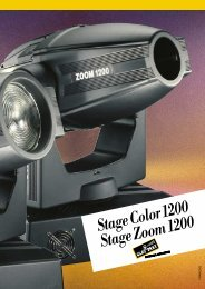 StageColor1200 StageZoom1200 - Clay Paky